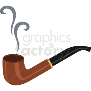 smoking pipe vector flat icon clipart with no background clipart. Commercial use image # 406679
