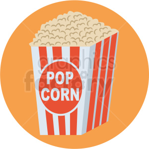 popcorn vector flat icon clipart with circle background clipart. Royalty-free icon # 406741