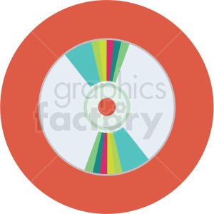 dvd vector flat icon clipart with circle background clipart. Commercial use image # 406761