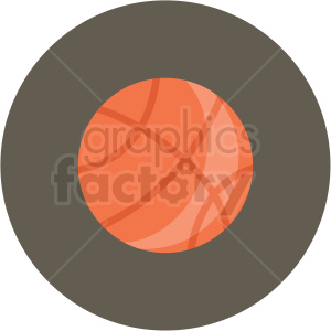 basketball vector flat icon clipart with circle background clipart. Royalty-free image # 406773