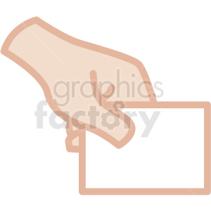 white hand holding card vector icon clipart. Commercial use image # 406793