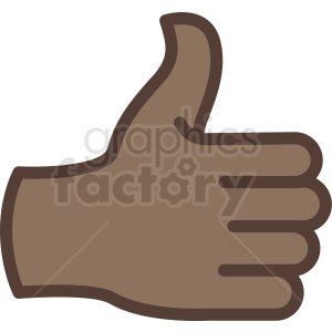 african american thumbs up back of hand vector icon clipart. Commercial use image # 406823
