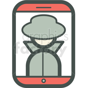 privacy smart device vector icon clipart. Royalty-free icon # 406883