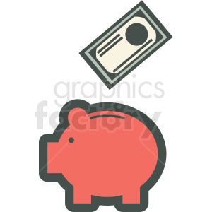 piggy bank vector icon clipart. Commercial use image # 406893