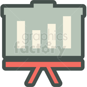 profit presentation vector icon clipart. Commercial use image # 406913