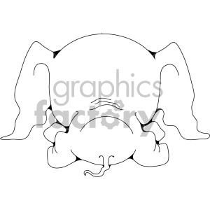 baby elephant butt clipart. Royalty-free image # 406979