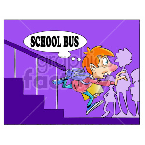 kid running late for school clipart clipart. Royalty-free image # 407069