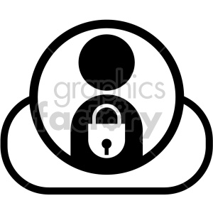 black+white technology icons privacy data personal information secure locked