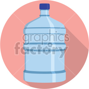 water jug on circle background flat icons clipart. Royalty-free image # 407135