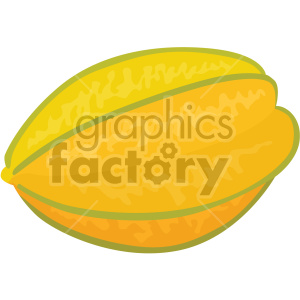 icons fruit food carambola