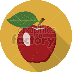 apple on circle background flat icon clip art clipart. Royalty-free icon # 407169