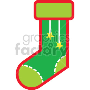 christmas stocking vector icon clipart. Commercial use image # 407251