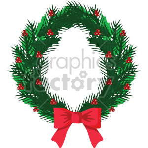 christmas wreath icon clipart. Royalty-free image # 407312