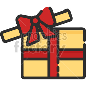 christmas gift icon clipart. Royalty-free image # 407327