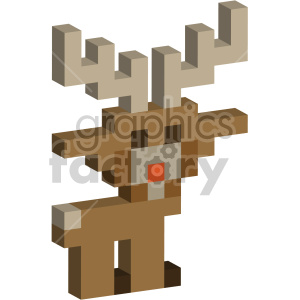christmas 8 bit rudolph reindeer clipart. Royalty-free image # 407372