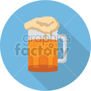 beer glass on blue background clipart. Commercial use image # 407406
