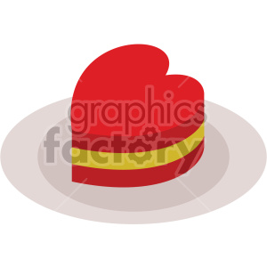 valentines cake vector icon no background clipart. Royalty-free icon # 407438