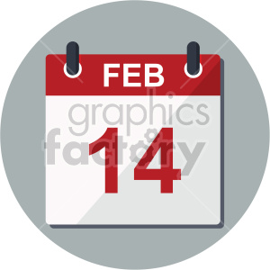 february calendar valentine vector icon clipart. Commercial use icon # 407439