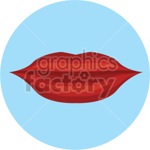 lips vector icon on blue background clipart. Royalty-free image # 407453