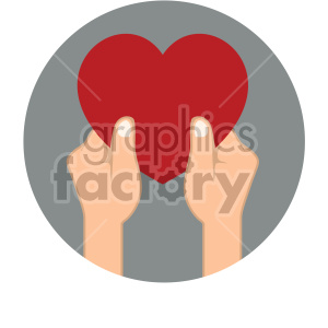 giving love valentines vector icon on gray background clipart. Royalty-free image # 407467