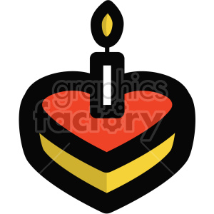 heart shaped cake icon for valentines day clipart. Royalty-free image # 407474