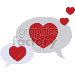 valentines chat bubbles vector icon no background clipart. Royalty-free image # 407489