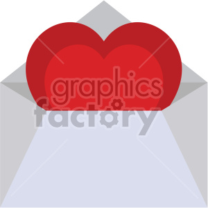 love letter valentines vector icon no background clipart. Royalty-free icon # 407502