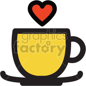lovely coffee cup with heart steam clipart. Royalty-free icon # 407504