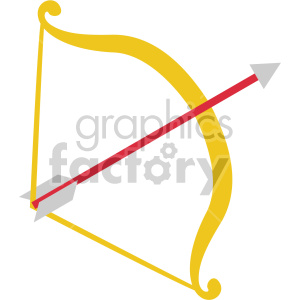 cupids bow and arrow for valentines vector icon no background