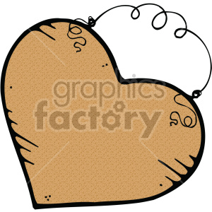 brown heart art clipart. Royalty-free image # 407515