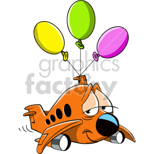 tired airplane cartoon character clipart. Royalty-free image # 407533