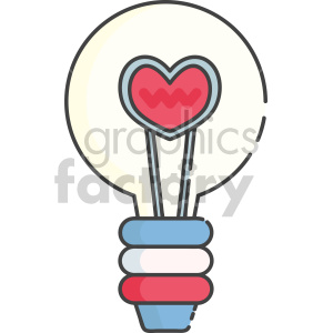 heart lightbulb clipart. Royalty-free image # 407560