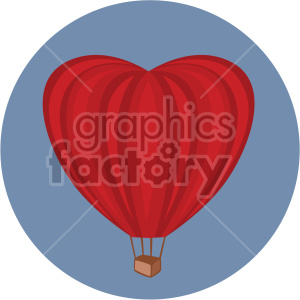 hot air balloon on circle background