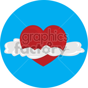 heart with clouds for valentines blue background clipart. Commercial use image # 407624