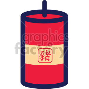 asian chinese new year firecracker clipart. Commercial use image # 407629