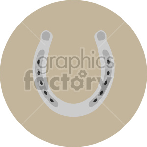 st patricks day lucky horseshoe on circle background clipart. Royalty-free image # 407689