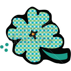 shamrock clover 007 c clipart. Commercial use image # 407715