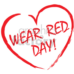wear red day clipart. Commercial use image # 407739