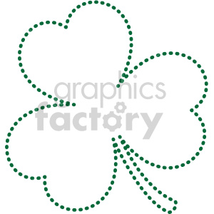 shamrock dotted outline clipart. Commercial use image # 407753
