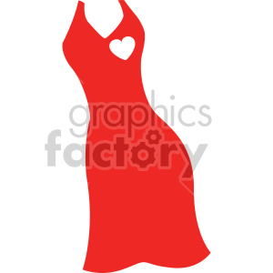 red dress svg cut file clipart. Royalty-free image # 407758
