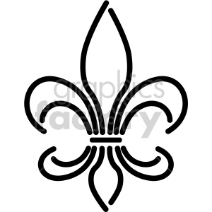 Fleur de lis black and white neon design clipart. Royalty-free image # 407765