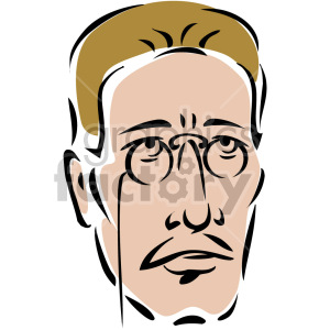 man's face with glasses clipart. Royalty-free image # 157301