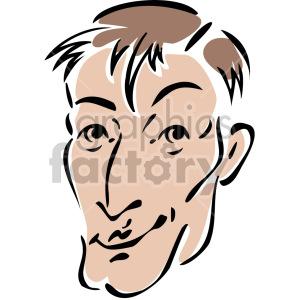 cartoon face clipart. Royalty-free image # 157305