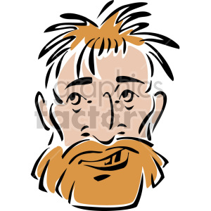 homeless man's face clipart. Commercial use image # 157329