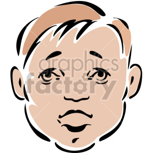 surprised baby face clipart. Royalty-free image # 157343