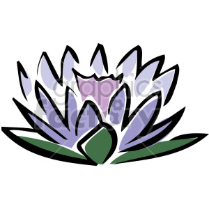purple lotus clipart. Commercial use image # 151179