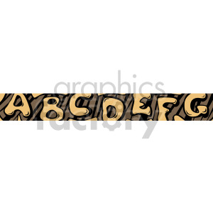 alphabet header clipart. Royalty-free image # 167004