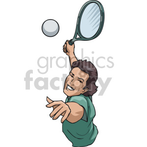 woman tennis player serving the ball clipart. Royalty-free image # 170048