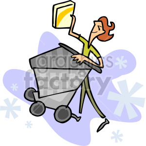 lady shopping clipart. Commercial use image # 155197