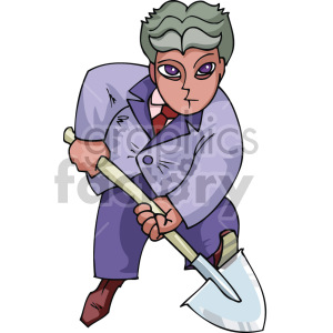 man digging a hole clipart. Commercial use image # 155345